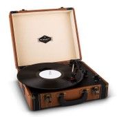 Auna Jerry Lee Platine Vinyle R�tro Lp Usb -Marron