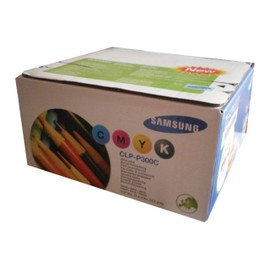 Samsung Clp-P300c Rainbow Kit - Pack De 4 - Noir, Jaune, Cyan, Magenta - Original - Cartouche De Toner - Pour Clp-300, 300n; Clx-2160, 2160n, 3160fn, 3160n