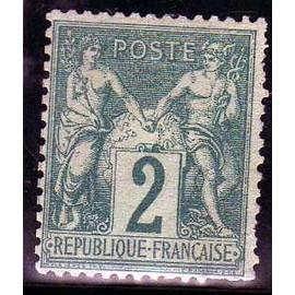 timbre neuf type sage numero 62 cote 1800 euros
