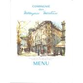 Lot De 4 Menus De La Compagnie Des Messageries Maritimes