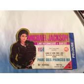 Billet Concert Michael Jackson Au Parc Des Princes 1988