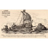 Carte Postale Ancienne Numero 5 De La Ligue Maritime Francaise - Illustree Par Albert Sebille 1908