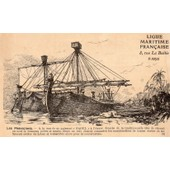 Carte Postale Ancienne De La Ligue Maritime Francaise Numero 3 Illustree Par Albert Sebille 1908
