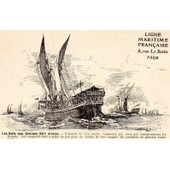 Carte Postale Ancienne Numero 7 De La Ligue Maritime Francaise Illustree Par Albert Sebille 1908