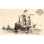 Carte Postale Ancienne Numero 9 De La Ligue Maritime Francaise - Illustree Par Albert Sebille 1908