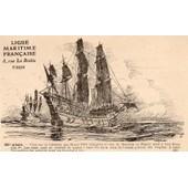 Carte Postale Numero 10 De La Ligue Maritime Francaise - Illustration De Albert Sebille 1908
