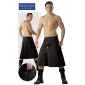 [Discontinued] Jupe Pour Homme - Kilt Noir - Bondage Taille Extra Large - Xl