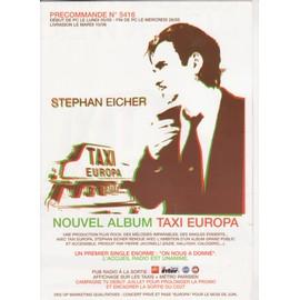 STEPHAN EICHER bon précommande n°5416 TAXI EUROPA 4xfold poster