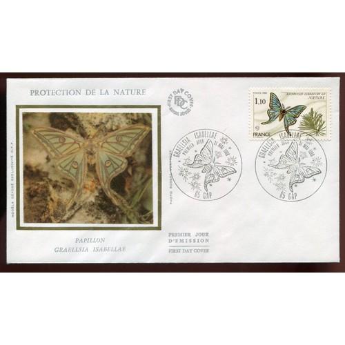 France année1980 fdc n° 2089 motif soie enveloppe premier jour protection de la nature <strong>gap</strong> 31051980