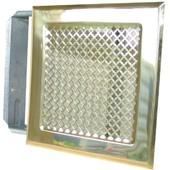 Grille De Chemin�e Avec Pr�cadre Dmo - Laiton - Dimensions 170 X 170 Mm