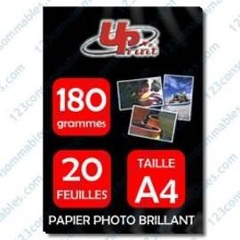 Papier Photo Premium Uprint Compatible Brillant - A4 - 180 Grs - 20 Feuilles