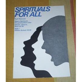 Spirituals for all, Heft 1, paroles et partition pour choeur, piano, guitare et basse