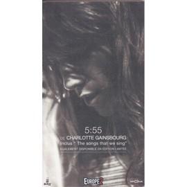 CHARLOTTE GAINSBOURG 5:55 PLV borne d'écoute 14x25 cm recto