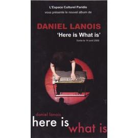 DANIEL LANOIS here is what is PLV borne d'écoute 14 x 25 cm RECTO