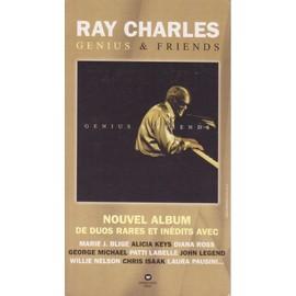 RAY CHARLES genius & friends PLV borne d'écoute 14 x 25 cm RECTO-VERSO