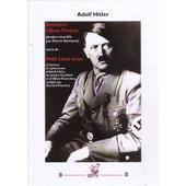 Derniers Libres Propos, Suivis Du Petit Livre Brun de Adolf Hitler