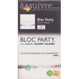 BLOC PARTY silent alarm PLV borne d'écoute 14 x 25 cm RECTO-VERSO