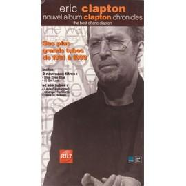 ERIC CLAPTON chronicles PLV borne d'écoute 14x25 cm recto-verso