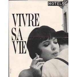 Vivre Sa Vie, Synopsis D�pliant, Jean-Luc Godard, Avec Anna Karina, Sady Rebbot, Andr� S. Labarthe