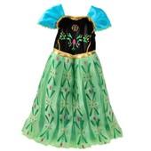 Robe Enfants Paillettes Princesse Strass Flocons Cape Tra�ne Elsa Reine Des Neiges D�guisement Cosplay Costume Spectacle Anniversaire F�te Carnaval Mardi Gras Envoi Rapide