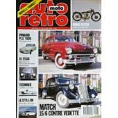 Auto Retro N� 104 : Panhard Pl17 Tigre - Mercedes 300 A L'essai - La Mgb A La Loupe - Le Style Gm - Match Citroen 15/6 Contre Ford Vedette