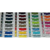 Lot De 64 Bobines De Fil � Coudre Multi Usage Color� En Polyester