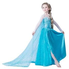 Magnifique Robe Elas La Reine Des Neiges Taille Fr34 Pour Ados De 12 � 14 Ans Envoie Imm�diat, Soir�e, Anniversaires Qualit�