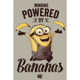 Moi, Moche Et M�chant Poster - Minions, Powered By Bananas (91x61 Cm)