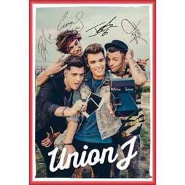 Poster encadré: Union J - You Got It All, Selfie (91x61 cm), Cadre Plastique, Rouge
