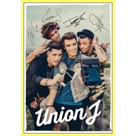Poster encadré: Union J - You Got It All, Selfie (91x61 cm), Cadre Plastique, Jaune