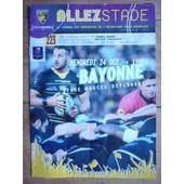 Programme Match Stade Rochelais / Bayonne 24 Octobre 2014