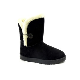 Boots Fourr�es, Avec Boutons, Bottes Fourr�es, Bottines Fourrees, Imitation Daim, Inspiration Ugg, Pas Cher, Pas Chere, Pas Chers, Pas Cheres, (Julia) (32300)