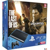 Console Ps3 Noire [12 Go] Pack The Last Of Us + Uncharted 3 : L'illusion De Drake - �dition Game Of The Year