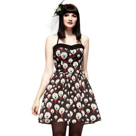 Robe Zombie � Motif Oeil Ensanglant� Eyeball Perry Dress, Hell Bunny
