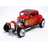 Motormax - 1/18 - Ford - Hot Rod Coupe - 1932 - 73172r_Flames