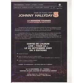 JOHNNY HALLYDAY bon précommande / poster n°5849 Stade de France 2009