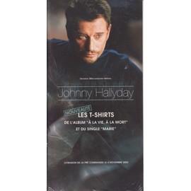 Johnny HALLYDAY Plaquette Argumentaire les T-shirts 4/11/2002