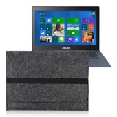 kwmobile� Manchon pour Asus Zenbook UX301 / UX302 / UX303 portable Ultrabook fait de durable sentir avec des poches en Gris fonc�