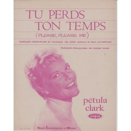PETULA CLARK PARTITION TU PERDS TON TEMPS