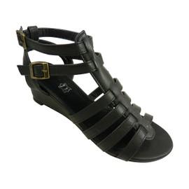 Sandales Spartiates Compens�es Chaussure Femme