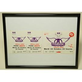 Cadre Photo PVC Noir 18x24cm Billet Concert Collector Aerosmith Ticket Live Collection Paris 1989