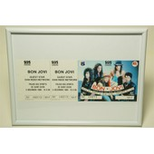 Cadre Photo 18x24 Pvc Blanc Billet Concert Collection Bon Jovi Ticket Live Collector Saint Ouen 1989