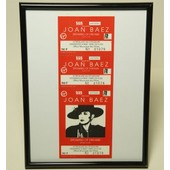 Cadre Photo Pvc 18x24 Billet Place Concert Collection Joan Baez Ancien Ticket Live Collector 1990