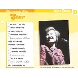 fiche chanson atlas ALICE DONA star