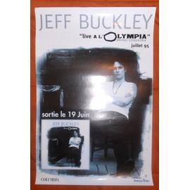 AFFICHE 60X40 JEFF BUCKLEY LIVE A L'OLYMPIA JUILLET 95 LIVRAISON PLIEE BON ETAT & TRES RARE