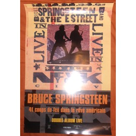 AFFICHE 60X40 PLIEE BRUCE SPRINGSTEEN & THE ESTREET BAND LIVE IN NEW YORK ETAT CORRECT TRES RARE