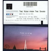 Ticket D'entr�e Billet The View From The Shard La Vue Depuis La Tour Shard