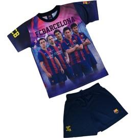 Ensemble Maillot + Short Bar�a - Neymar Messi Suarez Xavi Iniesta - Collection Officielle Fc Barcelone - Taille Enfant Gar�on