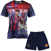 Ensemble Maillot + Short Bar�a - Neymar Junior - Collection Officielle Fc Barcelone - Taille Enfant Gar�on
