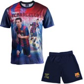 Ensemble Maillot + Short Bar�a - Lionel Messi - Collection Officielle Fc Barcelone - Taille Enfant Gar�on